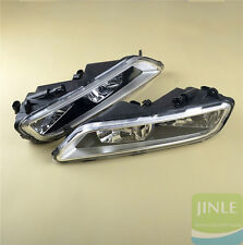 Pair Front Bumper Halogen Fog Lights Lamps H8 Bulb For VW Passat B7 Euro Version