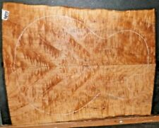 Flame Curly Maple Wood 9873 Luthier Solid Body Guitar Top Set 20 x 16 x .500