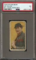 Rare 1909-11 T206 HOF Vic Willis With Bat Polar Bear Back St. Louis PSA 1