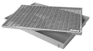 ACO 60x40cm Schuhabstreifer Maschenrost mit Bodenwanne Abstreiferrost Gitterrost