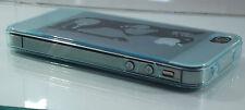 Custodia in silicone trasparente di protezione per iPhone 4 4 S a prova di polvere blu cielo