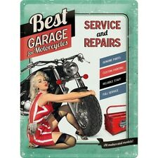 Nostalgie Blechschild - Best Garage for Motorcycles - Blechschilder