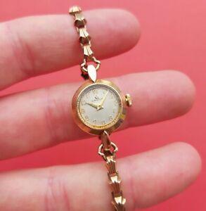 Vintage Omega 9ct solid gold watch ladies vintage rare Swiss