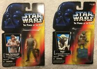 YODA & LUKE dagobah fatigues star wars power of the force potf action figure NEW