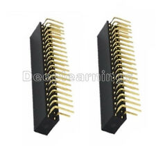 2PCS 2.54mm Double Row 2X20 40Pin Female Right Angle Header Socket Pin Strip NEW