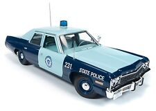 ERTL COLLECTIBLES 1974 DODGE MONACO MASSACHUSETTS STATE POLICE 1/18  AMM1023