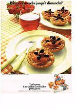PUBLICITE  1971   TART'EXPRESS  fond de tarte pret à garnir