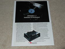 NAKAMICHI DRAGON-CT rare Turntable Ad, 1984, Article, 1 page, Info