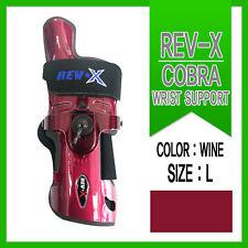 Rev-X Bowling Wrist Support / RH / Large / Wine/ Glove