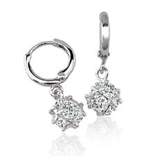 Toddler Childrens baby Girls Safety earings crystal hoop earrings Gold filled