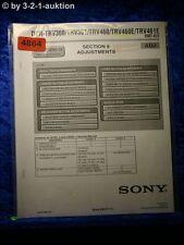 Sony Service Manual DCR TRV360 TRV361 TRV460 TRV460E TRV461E ADJ (#4864)