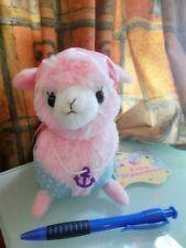 Arpakasso Alpacasso Alpaca Plush Pirate  version in Pink (16cm)