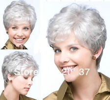 LMRA575  New Womens short gray white Hair wigs for health wigs Cosplay Wigs