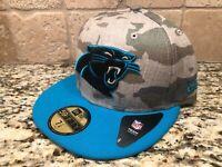 CAROLINA PANTHERS NFL NEW ERA 59FIFTY CAMO HAT CAP - 7 1/4 *SHIPS IN A BOX*