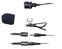 Pyle PLM3 Wired Lavalier Uni-Directional Microphone 3.5mm or 1/4'' (Black)