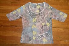 Vintage Suzie - Women's Multi Color Floral Gems - Shirt/Top - Size XL - EUC