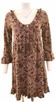 ODD MOLLY Womens Velvet Dress Size 3 Large Multicoloured Cotton  KR26