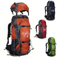Men women's Waterproof Outdoor Sport 70L Travel Hiking Camping Backpack nylon