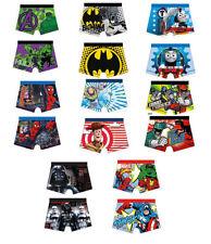 Abbigliamento boxer per bambini dai 2 ai 16 anni 100% Cotone