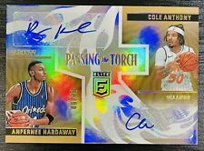 2020 Donruss Elite Penny Hardaway / Cole Anthony Passing The Torch GOLD AUTO /10