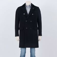 DIOR HOMME 4500$ Authentic New Black Alpaca And Wool Coat With Beaver Fur Collar