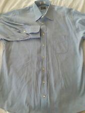 Men's Gitman Bros. Blue Button Front Long Sleeve Oxford Shirt 16 1/2 33
