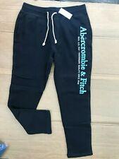 $ 68 Abercrombie & Fitch Mens Logo Sweatpants BLACK SIZE L