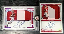 2020 National Treasures Lot(2) Jerry Jeudy Auto Patch Card /25 & /49 Broncos RC