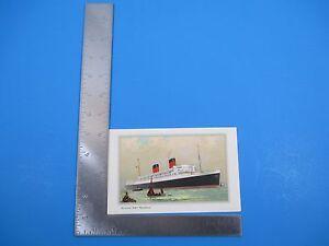 Vintage 1960 Cunard Liner R.M.S Mauretania Information with Illustration S3632