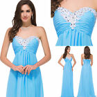 Sexy Long Formal Evening Gown Wedding Prom Dress Off shoulder Bridesmaid Dress