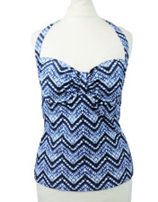 The Collection Ikat Zigzag Blue Tankini Top Size 12 uk rrp £18 CR099 BB 05