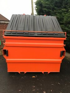Front end loader skips-FEL Skip-waste Container-bin-dust-not For Hire-not roro