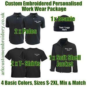 Work Wear Package. Embroidered Workwear. Personalised Workwear. Work Wear Bundle