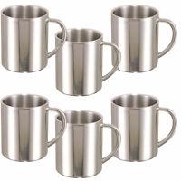 6 X Edelstahl Doppelwand Iso-Becher 0,28L Thermobecher Isoliertasse Kaffeebecher