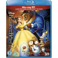 Disney's Beauty and the Beast [3D + 2D Blu-ray Region Free 1991 Animated] NEW
