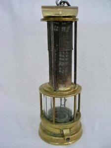 Vintage Brass & Steel Miners Lamp By John Mills of Newcastle on Tyne.