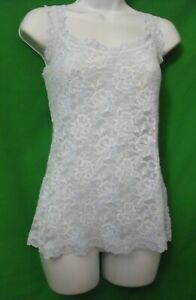 NEW HANKY PANKY 594624 W-PB SIGNATURE CROSS-DYED SHEER LACE CAMISOLE S