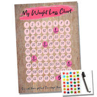 A4 Weight Loss Chart - 5 Stone Slimming - Dieting - Goal Target Progress Tracker