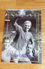 BOBBY MOORE WEST HAM WORLD CUP FOOTBALL GREATS FUTERA PLATINUM PROMO CARD 1998