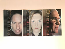 THE X-FILES: I WANT TO BELIEVE (2008) Complete BACK TO BASICS Chase Card Set (3)