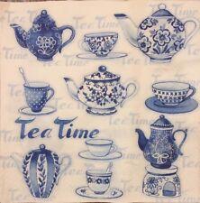 2 single paper napkins for Decoupage Crafts Teapot Tea time Kettle teacups
