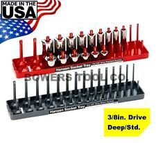 "Hansen Global 3/8"" Drive Metric & SAE Standard & Deep Socket Tray Organizer Set"