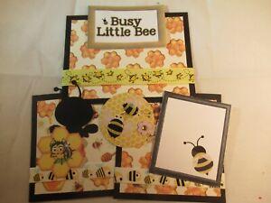 BUSY LITTLE BEE  3D PAPER PIECING  SCRAPBOOK PAGE MAT SET