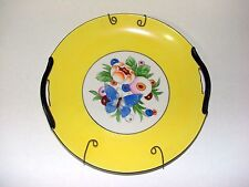 Noritake Handpainted Decorator Plate - Yellow w/ Butterfly on Cherry Blossom
