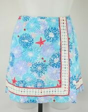 Lilly Pulitzer Blue Floral And Starfish Print Skirt Size 4