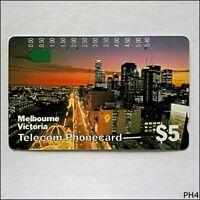 Telecom Melbourne Victoria T4C1 29 $5 Phonecard (PH4)