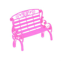 Doll Bench Park Chair Accessories For Doll House Dollhouse Decoration Toys FT