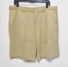 TOMMY BAHAMA 100% SILK Shorts - Men's Size 36 - Relax Waist Casual Pleated Khaki