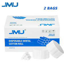 4000pcs 2bags Dental Medical Pure Cotton Rolls High Absorbent Sponge 114x38