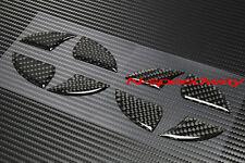 For 11+ Scion tC BLK Carbon Fiber Front Hood Rear Trunk Emblem Decal Insert 2pcs